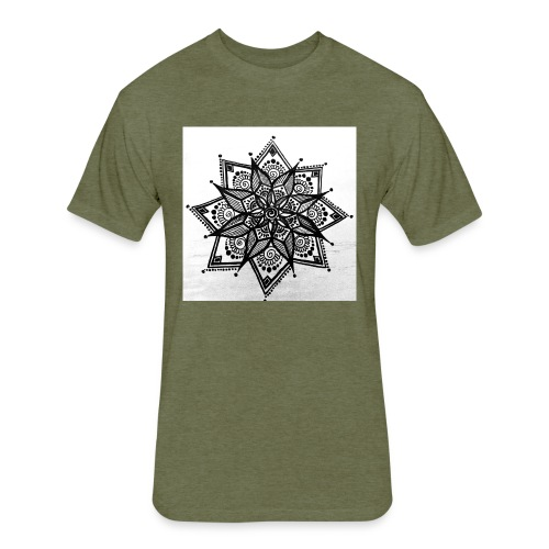 Handmade Mandela Design - Fitted Cotton/Poly T-Shirt by Next Level