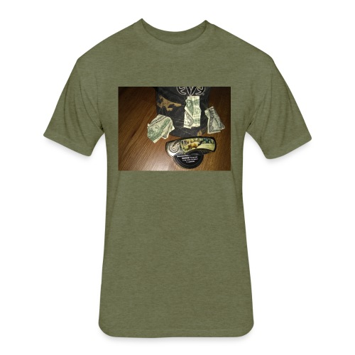 All a good hunter really needs - Fitted Cotton/Poly T-Shirt by Next Level