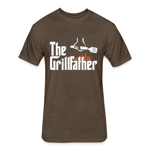 The Grillfather - Fitted Cotton/Poly T-Shirt by Next Level