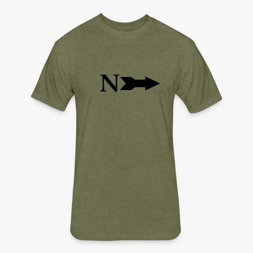 Narrow Logo Black - Fitted Cotton/Poly T-Shirt by Next Level