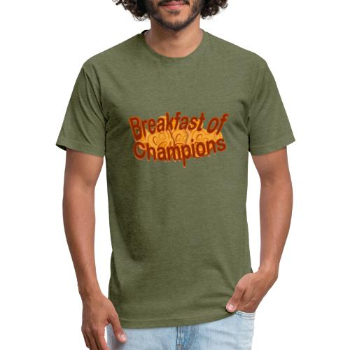 Breakfast of Champions - Fitted Cotton/Poly T-Shirt by Next Level