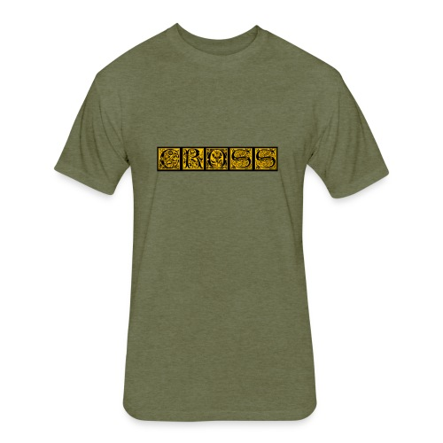Cr0ss Gold-Out logo - Fitted Cotton/Poly T-Shirt by Next Level