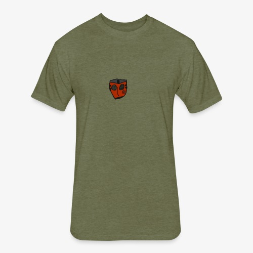 Scratched Mask MK IV - Fitted Cotton/Poly T-Shirt by Next Level