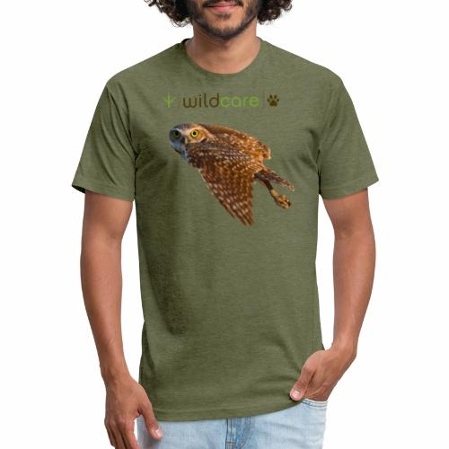 Burrowing Owl in Flight - Fitted Cotton/Poly T-Shirt by Next Level