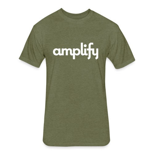 amplify logo// white - Fitted Cotton/Poly T-Shirt by Next Level