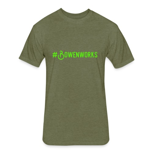 Green #Bowenworks - Fitted Cotton/Poly T-Shirt by Next Level