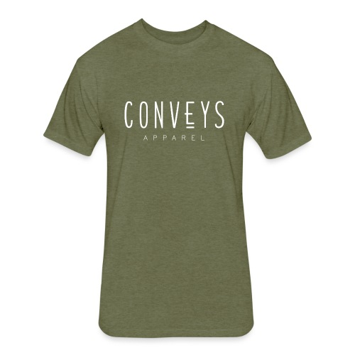 Conveys Apparel - White - Fitted Cotton/Poly T-Shirt by Next Level