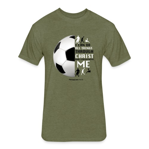 soccer - Fitted Cotton/Poly T-Shirt by Next Level