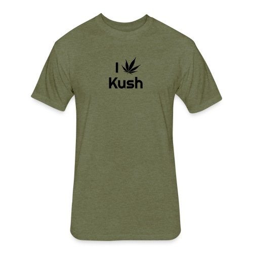 I love Kush - Fitted Cotton/Poly T-Shirt by Next Level