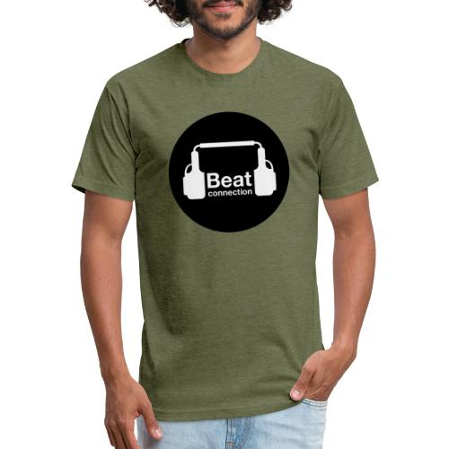 Beat connection black & white - Fitted Cotton/Poly T-Shirt by Next Level