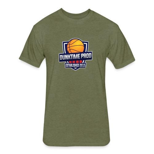 DUNKIME Producions Logo - Fitted Cotton/Poly T-Shirt by Next Level