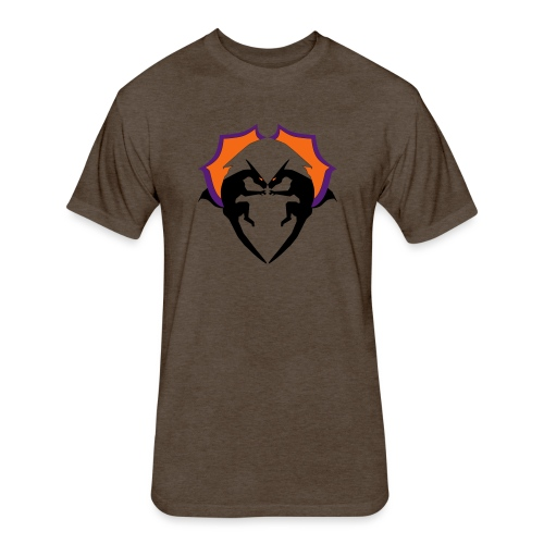 Dragon Love - Fitted Cotton/Poly T-Shirt by Next Level