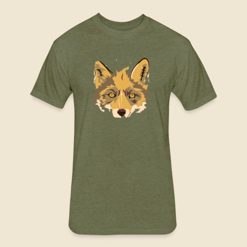 Fox - Fitted Cotton/Poly T-Shirt by Next Level