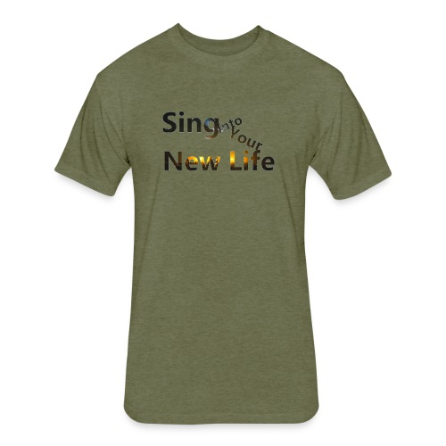 Sing in Brown - Fitted Cotton/Poly T-Shirt by Next Level