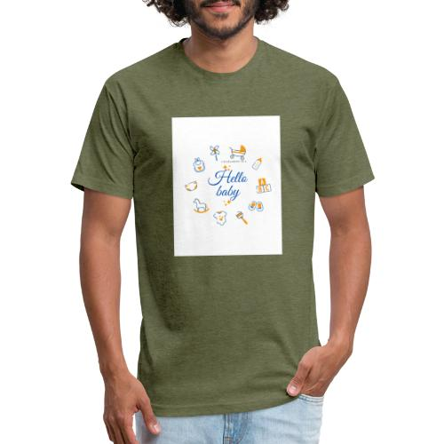 Hello baby - Fitted Cotton/Poly T-Shirt by Next Level