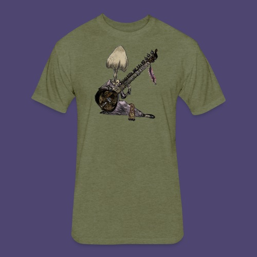 Mushroom Genie - Fitted Cotton/Poly T-Shirt by Next Level