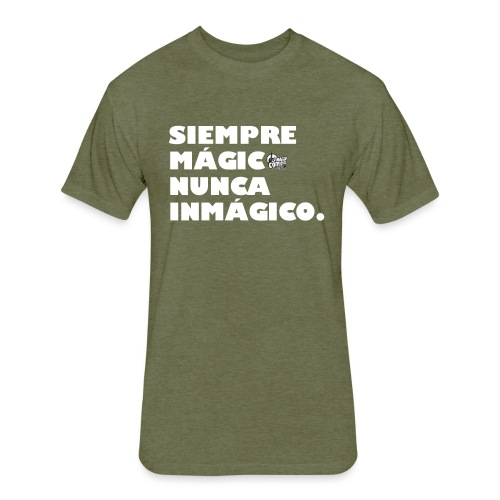 Camisa Siempre Magico Nunca Inmagico - Fitted Cotton/Poly T-Shirt by Next Level