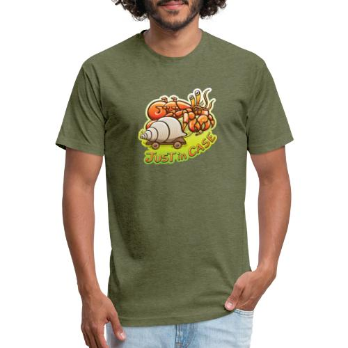 Hermit crab goes out but takes shell, just in case - Fitted Cotton/Poly T-Shirt by Next Level
