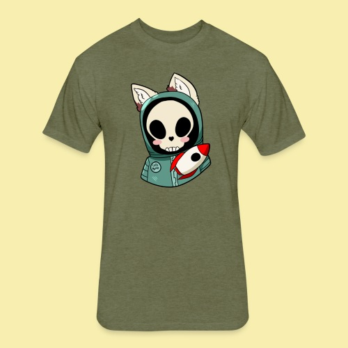 Furry - Fitted Cotton/Poly T-Shirt by Next Level