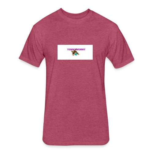 YUMMY MUMMY - Fitted Cotton/Poly T-Shirt by Next Level