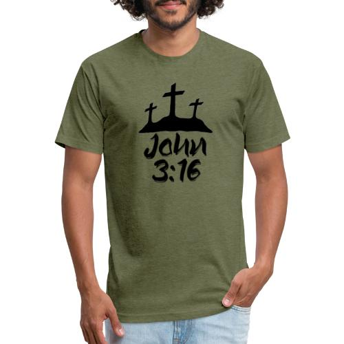 John 3:16 - Fitted Cotton/Poly T-Shirt by Next Level