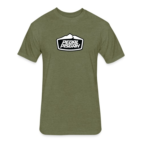 Mountain Trail Emblem Monochrome - Fitted Cotton/Poly T-Shirt by Next Level