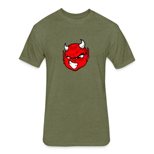 Rebelleart devil - Fitted Cotton/Poly T-Shirt by Next Level