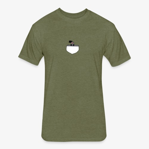 Scar Pocket Buddy - Fitted Cotton/Poly T-Shirt by Next Level