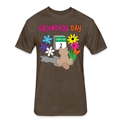 Groundhog Day Dilemma - Fitted Cotton/Poly T-Shirt by Next Level