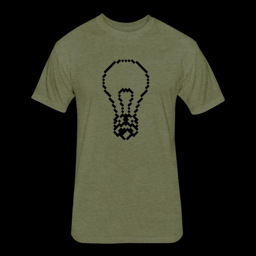 lightbulb by bmx3r - Fitted Cotton/Poly T-Shirt by Next Level