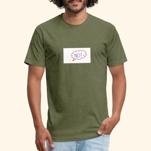 NO! - Grace Sakyi - Fitted Cotton/Poly T-Shirt by Next Level
