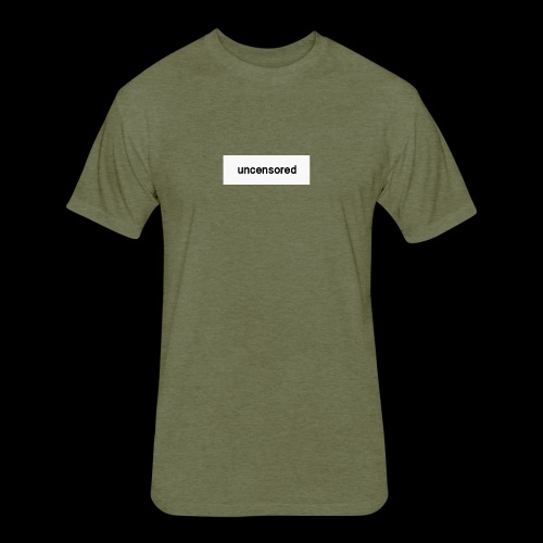 uncensored brand - Fitted Cotton/Poly T-Shirt by Next Level