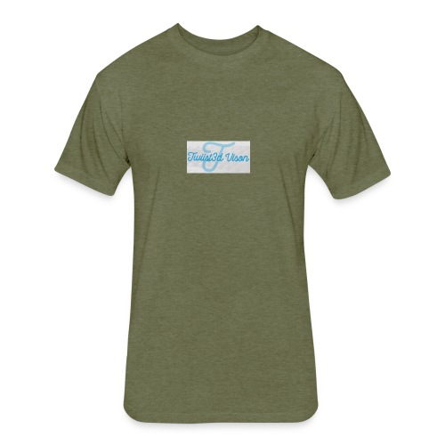 TwiiSt3D - Fitted Cotton/Poly T-Shirt by Next Level