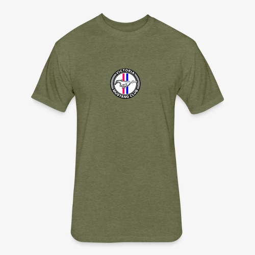 Victoria Mustang Club Logo - Fitted Cotton/Poly T-Shirt by Next Level