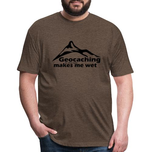 Wet Geocaching - Fitted Cotton/Poly T-Shirt by Next Level