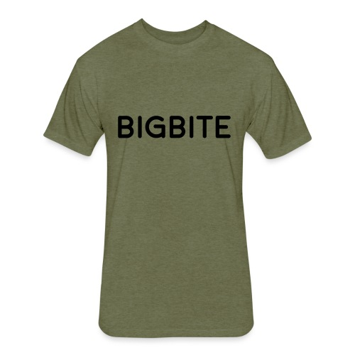 BIGBITE logo red (USE) - Fitted Cotton/Poly T-Shirt by Next Level
