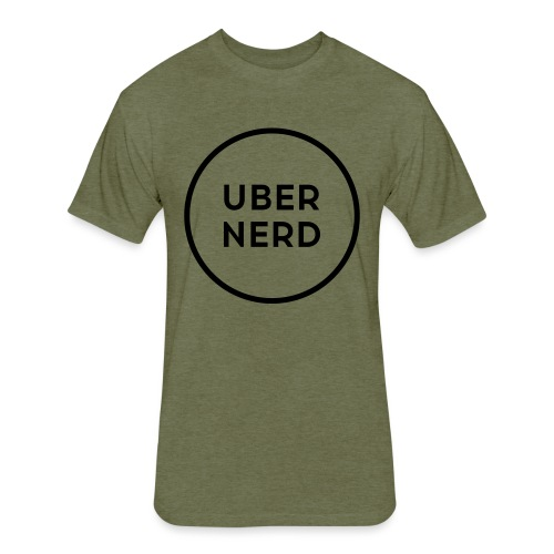 uber nerd logo - Fitted Cotton/Poly T-Shirt by Next Level