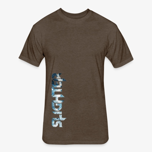 Slighter Blue Ice Logo - Fitted Cotton/Poly T-Shirt by Next Level