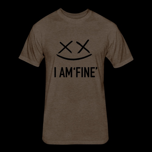 I AM FINE XvX - Fitted Cotton/Poly T-Shirt by Next Level