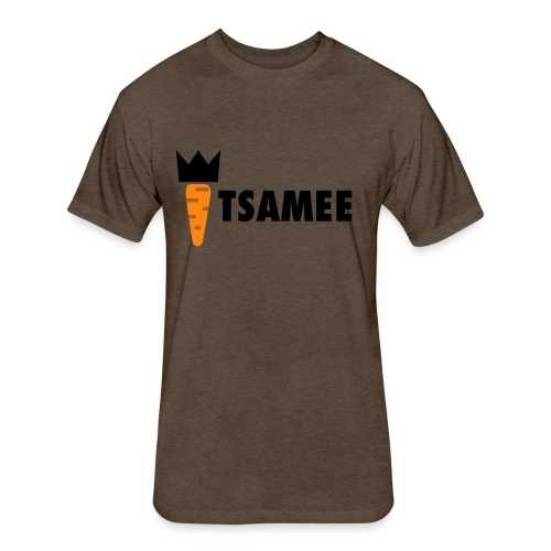 ITSAMEE LOGO BLACK - Fitted Cotton/Poly T-Shirt by Next Level