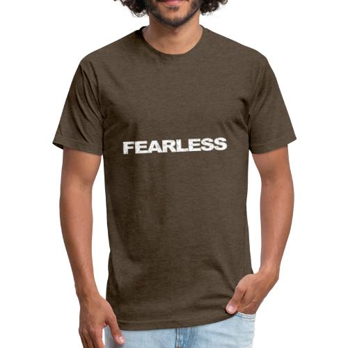 motivation & inspiration for fearless - Fitted Cotton/Poly T-Shirt by Next Level