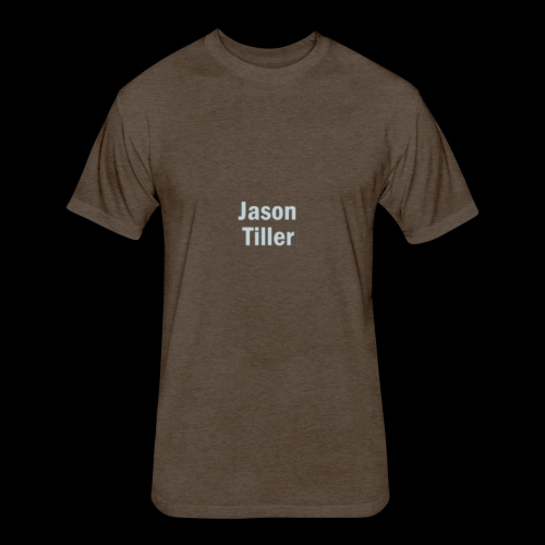 Tiller Text 3 - Fitted Cotton/Poly T-Shirt by Next Level