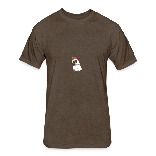 Pugicorn - Fitted Cotton/Poly T-Shirt by Next Level