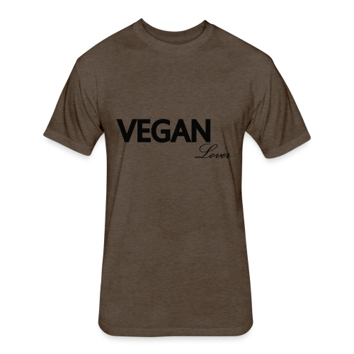 Vegan Lover - Fitted Cotton/Poly T-Shirt by Next Level