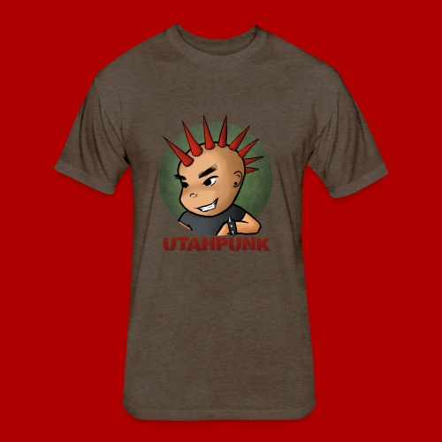 Utahpunk Logo - Fitted Cotton/Poly T-Shirt by Next Level
