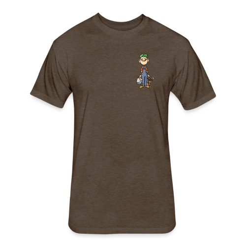 a4 marc logo - Fitted Cotton/Poly T-Shirt by Next Level