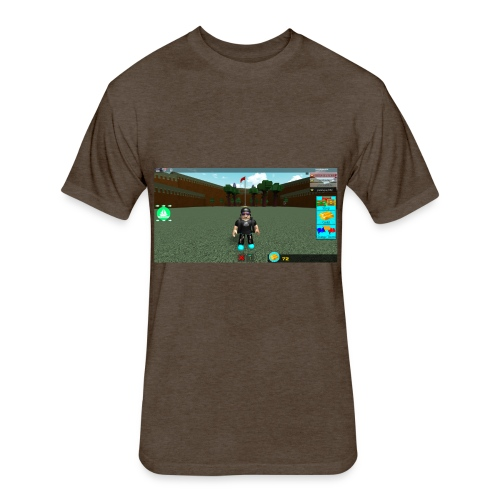 roblox merch - Fitted Cotton/Poly T-Shirt by Next Level