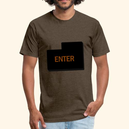 enter keyboard part - Fitted Cotton/Poly T-Shirt by Next Level