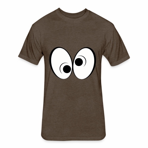 Eye Design 1 - Fitted Cotton/Poly T-Shirt by Next Level