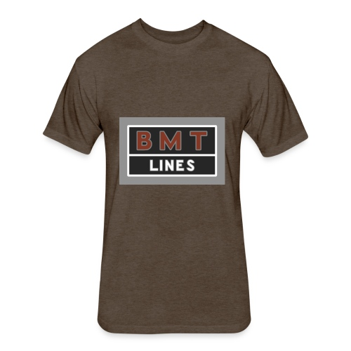 NYC Brooklyn Mass Transit - Fitted Cotton/Poly T-Shirt by Next Level